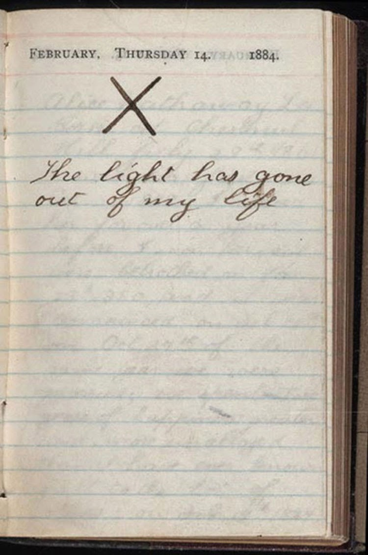 Theodore Roosevelt's diary the day his wife and mother died, 1884 - Rare  Historical Photos